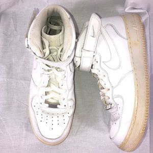 Nike Air Force 1 One 10.5 Mid Top White 315123-111